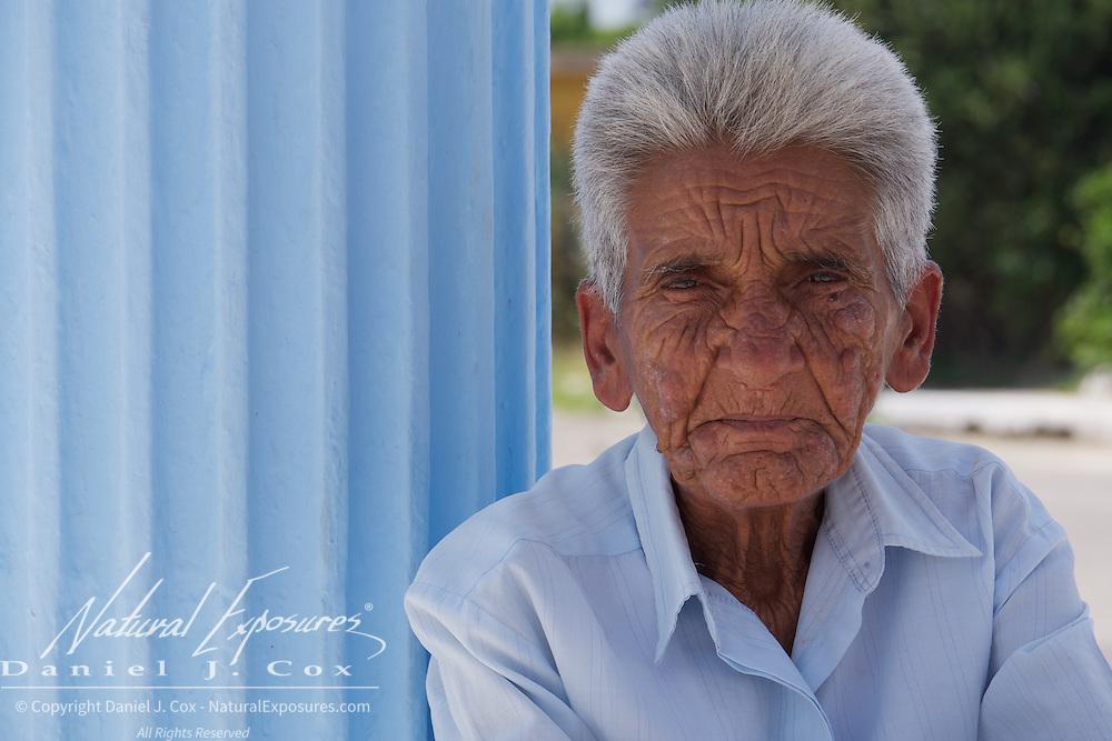 An elderly woman in Cojimar, Cuba.