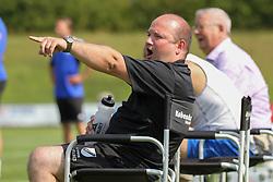 Cheftræner Christian Grønbæk (Avarta) under kampen i 2. Division Øst mellem Boldklubben Avarta og FC Helsingør den 19. august 2012 i Espelunden. (Foto: Claus Birch).
