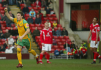 Photo: Aidan Ellis.<br /> Barnsley v Norwich City. Coca Cola Championship. 03/03/2007.<br /> Norwich's Chris Martin celebrates the third goal scored by him self