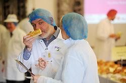 Scottish Bakery Awards_Dunfermline Blcc_17-04-2019<br /> <br /> Sniffing a sausage roll<br /> <br /> (c) David Wardle   Edinburgh Elite media