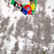 Japanese National Snowboard Team member Ryoh Aono competes in the finals at the 2009 LG Snowboard FIS World Cup at Cypress Mountain, British Columbia, on February 16th, 2009. Aono earned the silver medal on the weekend.