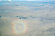 Spectre of the Brocken on Alto Cumulus clouds over the Pacific Ocean