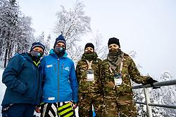 Workers at Day 2 of FIS Ski World Flying Championship Planica 2020, on December 11, 2020 in Planica, Kranjska Gora, Slovenia. Photo by Morgan Kristan / Sportida