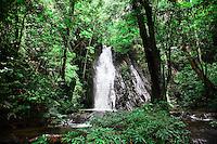 Jungle waterfall near  Nanga Sumpa Longhouse, Sarawak.