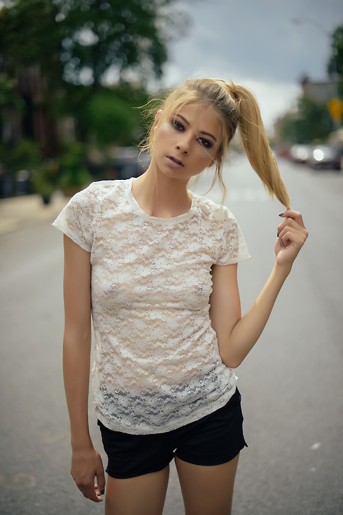 Photo shoot of a fashion model from RED Models agency in New York City