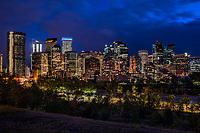 Downtown Calgary from Sunnyside Bank Park @ Night