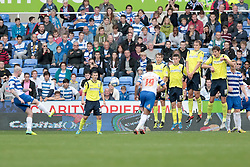 Reading's Danny Guthrie scoring his second goal from another free kick - Photo mandatory by-line: Nigel Pitts-Drake/JMP - Tel: Mobile: 07966 386802 28/09/2013 - SPORT - FOOTBALL - Madejski Stadium - Reading - Reading V Birmingham City - Sky Bet Championship