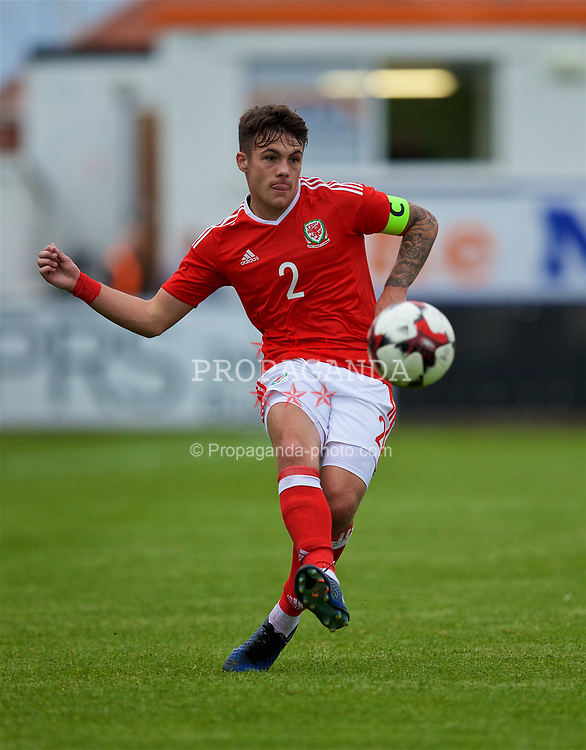 RHYL, WALES - Monday, September 4, 2017: Wales' Mitchell Clark during an Under-19 international friendly match between Wales and Iceland at Belle Vue. (Pic by Paul Greenwood/Propaganda)