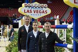 Team Holland, Gerco Schroder, Maikel Van der Vleuten, Jur Vrieling<br /> Longines FEI World Cup™ Jumping Final III<br /> Las Vegas 2015<br />  © Hippo Foto - Dirk Caremans<br /> 19/04/15