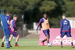 Mateo Cassierra Ajax (C) during a training session of Ajax Amsterdam at the Cascada Resort on January 10, 2018 in Lagos, Portugal