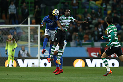 February 11, 2018 - Lisbon, Lisboa, Portugal - Feirense defender Jean Sonny from Haiti (L) and Sporting CP forward Seydou Doumbia from Ivory Coast (R) during the Premier League 2017/18 match between Sporting CP and CD Feirense at Estadio Jose Alvalade on February 11, 2018 in Lisbon, Portugal. (Credit Image: © Dpi/NurPhoto via ZUMA Press)