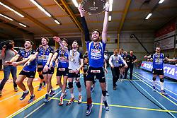 20150501 BEL: Volley Behappy2 Asse-Lennik - Knack Roeselare, Zellik<br />Knack Volley Roeselare is Kampioen van Belgie 2014 - 2015, Joppe Paulides (3) of Knack Volley Roeselare<br />©2014-FotoHoogendoorn.nl / Pim Waslander