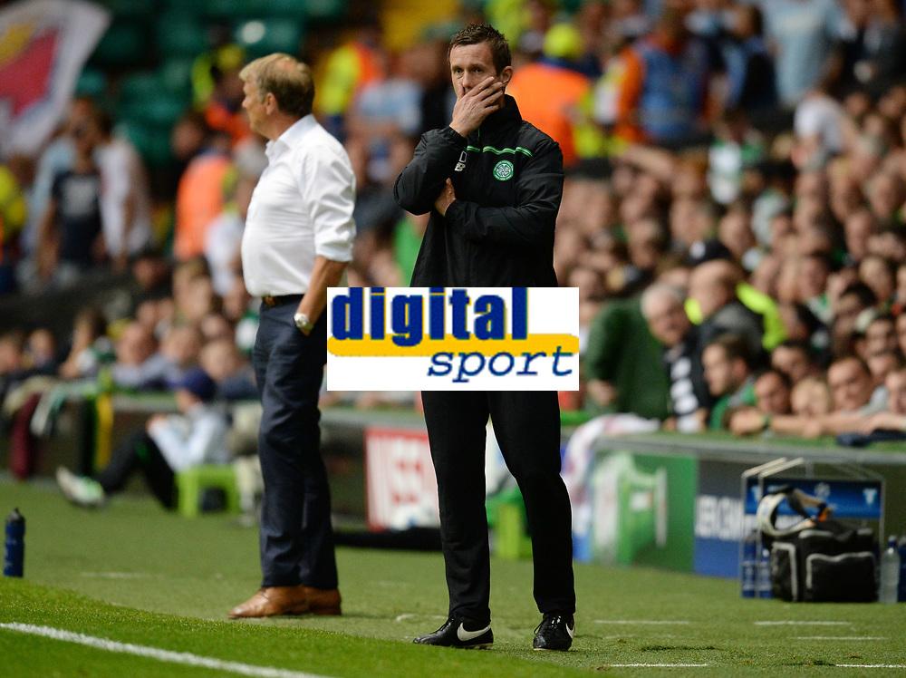 19/08/15 UEFA CHAMPIONS LEAGUE PLAY-OFF 1ST LEG<br /> CELTIC V MALMO<br /> CELTIC PARK - GLASGOW<br /> Celtic manager Ronny Deila.