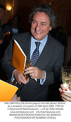 WILLIAM TALLON former page to the late Queen Mother, at a reception in London on 29th April 2004.PTR 54