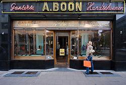 The A. Boon Glove shop in Antwerp, Belgium, Saturday, Sept. 13, 2008. (Photo © Jock Fistick)