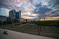 Sunset in La Défense