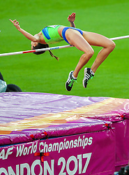 London, August 10 2017 . Women's high jump qualifying on day seven of the IAAF London 2017 world Championships at the London Stadium. © Paul Davey.
