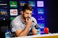 Sebastien TILLOUS BORDE - 01.05.2015 - Conference de presse Toulon avant la finale - European Rugby Champions Cup -Twickenham -Londres<br /> Photo : David Winter / Icon Sport
