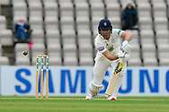 Joe Weatherley of Hampshire gets off the mark during the first day of the Specsavers County Champ Div 1 match between Hampshire County Cricket Club and Essex County Cricket Club at the Ageas Bowl, Southampton, United Kingdom on 5 April 2019.