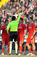 """Espulsione di Christian Maggio (Napoli).<br /> Udine, 7/02/2010 Stadio """"Friuli""""<br /> Udinese-Napoli.<br /> Campionato Italiano Serie A 2009/2010<br /> Foto Nicolò Zangirolami Insidefoto"""