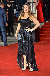 © Licensed to London News Pictures. 02/11/2017. London, UK. KELLY BROOK attends the World Film premiere of Murder On The Orient Express . Photo credit: Ray Tang/LNP