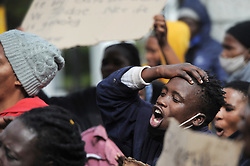 South Africa - Cape Town - 14 September 2020 - Residence from Ethembeni township in Khayelitsha, protested in frontof parliament and the Civic Centre to hand over a memorandum of demandsregarding the sanitation of their neighbourhood. Photographer: Armand Hough/African News Agency(ANA)
