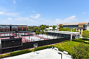 Lastinger Tennis Center, Marion Knott Studios and K Residence Hall on Campus of Chapman University