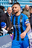 Gillingham FC defender Max Ehmer (5) during the EFL Sky Bet League 1 match between Gillingham and Oxford United at the MEMS Priestfield Stadium, Gillingham, England on 9 March 2019.