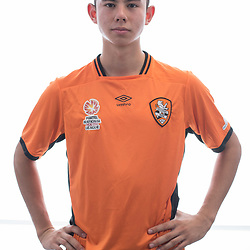 BRISBANE, AUSTRALIA - MARCH 17: Adam Sawyer poses for a photo during the Brisbane Roar Youth headshot session at QUT Kelvin Grove on March 17, 2017 in Brisbane, Australia. (Photo by Patrick Kearney/Brisbane Roar)