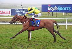 Jockey Jamie Codd on board Getaway John, winning the Cawley Furniture Flat Race, during BoyleSports Irish Grand National Day of the 2018 Easter Festival at Fairyhouse Racecourse, Ratoath, Co. Meath