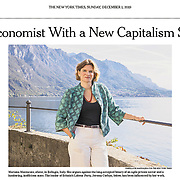 Mariana Mazzucato for The New York Times. Sunday Business - December, 1, 2019.