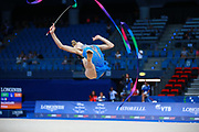 Milena Baldassarri from Italy is a really young but talented gymnast. She was born in Ravenna on October 16, 2001.Together with Alexandra Agiurgiuculese, Baldassarri represented Italy at the 2017 World Rhythmic Gymnastics Championships in Pesaro, where she finished 9th.