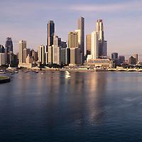 City skyline view, harbor view