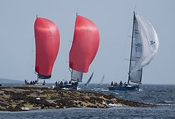 Sailing - SCOTLAND  - 27th May 2018<br /> <br /> DAY 3 Racing the Scottish Series 2018, organised by the  Clyde Cruising Club, with racing on Loch Fyne from 25th-28th May 2018<br /> <br /> Class one with IRL2007, Jump Juice, Conor Phelan, RCYC, Ker 37 custom, GBR7737R, Aurora, Rod Stuart / A Ram, CCC, Corby 37<br /> <br /> Credit : Marc Turner<br /> <br /> Event is supported by Helly Hansen, Luddon, Silvers Marine, Tunnocks, Hempel and Argyll & Bute Council along with Bowmore, The Botanist and The Botanist