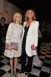 Left to right, HRH CROWN PRINCESS MARIE CHANTAL OF GREECE and PRINCESS TATIANA OF GREECE at a fashion show featuring designs from Celia Kritharioti Spring/Summer 2012 collection held at One Mayfair, London on 20th March 2012.