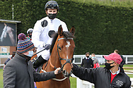 Jockey HECTOR CROUCH riding AMALFI BAY owned by Elite Racing Club at Nottingham Racecourse, Nottingham, United Kingdom on 7 April 2021.
