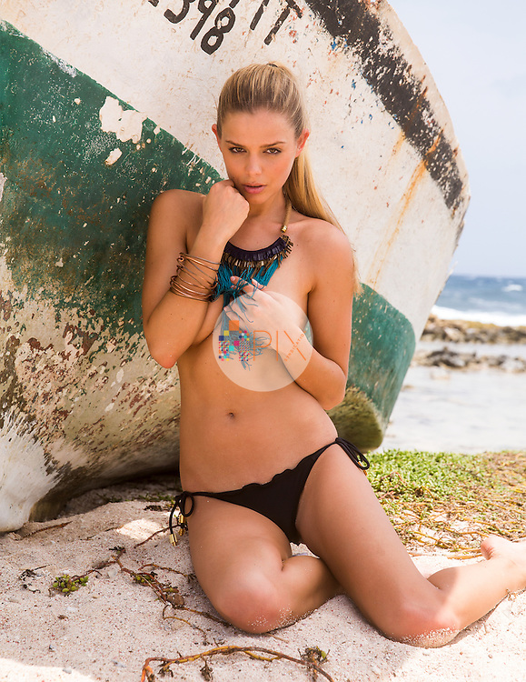 """Danielle Knudson is a Guess model whose popularity spiked when Justin Bieber posted a shot of her on Instagram with the caption """"Who is this Guess girl. She is stunning.""""<br /> <br /> Danielle is dating fellow Canadian and world #6 ranked tennis ace Milos Raonic, accompanying him on his tournaments around the world whenever she can: http://www.tmz.com/2015/02/09/tennis-star-milos-raonic-its-official-dating-hot-bikini-model/<br /> <br /> No doubt due to her fantastic bikini body, Danielle is also the campaign model for Zeugari Swimwear.<br /> <br /> This shoot will need approval prior to publication but could be accompanied by an interview."""