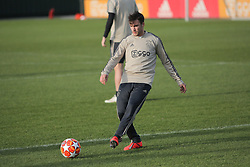 February 12, 2019 - Amsterdam, Netherlands - Ajax defender Nicolas Tagliafico pictured during a training before UEFA Champions League match playoff 1/8 finals game between Ajax Amsterdam and Real Madrid at Amsterdam Arena on February 12, 2019 in Amsterdam Netherlands. (Credit Image: © Federico Guerra Moran/NurPhoto via ZUMA Press)