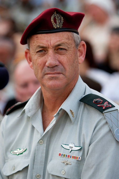 Deputy of Chief Staff Major General Benny Gantz attends a ritual exchange ceremony of the Chief Rabbi of the IDF, at the Davidson Center, the Jerusalem Archaeological Park, located near the Western Wall in the Old City of Jerusalem, on June 3, 2010.