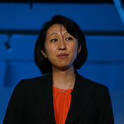 London,England,UK : 20 th June 2016 :  Speaker Dr. Julia Fan Li of SVP AND Head Of UK and Seven Bridge Genomics at the London Technology Week 2016 opening press day at The Yard,Worship Street, London. Photo by See Li