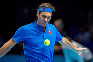 Roger Federer of Switzerland during the Nitto ATP World Tour Finals at the O2 Arena, London, United Kingdom on 11 November 2018. Photo by Martin Cole