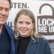 NLD/Blaricum/20190513 -  Lock Me Up - Free a Girl actie benefietfeest, Jeroen Rietbergen en Noa Vahle
