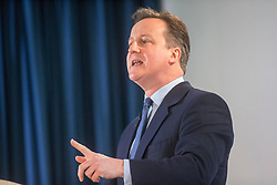 David Cameron gives a speech to the Scottish Conservative conference, held today, 4/3/2016, at Murrayfield Stadium, Edinburgh.