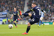 Derby County forward Jack Marriott (14) shoots at goal during the The FA Cup 5th round match between Brighton and Hove Albion and Derby County at the American Express Community Stadium, Brighton and Hove, England on 16 February 2019.