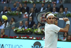 May 7, 2019 - Madrid, Spain - Roger Federer (SUI) in his match against Richard Gasquet (FRA) during day four of the Mutua Madrid Open at La Caja Magica in Madrid on 7th May, 2019. Spain  (Credit Image: © Oscar Gonzalez/NurPhoto via ZUMA Press)