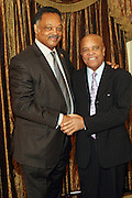 New York, NY-January 31: (L-R) Rev. Jesse L. Jackson, founder, Rainbow PUSH, and Music Executive Berry Gordon (Honoree) Music Executive Berry Gordy (C)attends the16th Annual Wall Street Project Gala Fundraiser Reception with special Tribute to Berry Gordy, Jr and Motown Recordings held at the Roosevelt Hotel on January 31, 2013. The Rainbow PUSH Coalition is a progressive organization protecting, defending and expanding civil rights to improve economics and educational opportunity. (Terrence Jennings))
