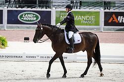 Sergey Kulikov, (RUS), Silva Le Andro - Individual Test Grade II Para Dressage - Alltech FEI World Equestrian Games™ 2014 - Normandy, France.<br /> © Hippo Foto Team - Jon Stroud <br /> 25/06/14