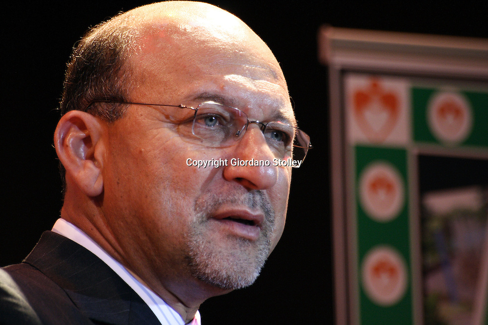 DURBAN -  29 April 2006 - South African finance minister Trevor Manuel speaks at a function in the Durban City Hall..Picture: Giordano Stolley