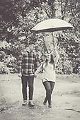 Natalie & Sam's fall engagement shoot in Cambridge