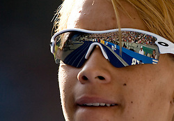 Virginie Michanol of France competes in the women's 4x400 m Final during the day nine of the 12th IAAF World Athletics Championships at the Olympic Stadium on August 23, 2009 in Berlin, Germany. (Photo by Vid Ponikvar / Sportida)